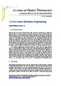 Collaborative Software Engineering - CiteSeerX