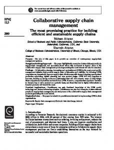 Collaborative supply chain management