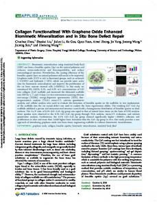 Collagen Functionalized With Graphene Oxide Enhanced Biomimetic