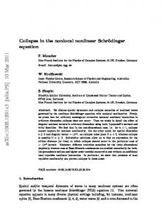 Collapse in the nonlocal nonlinear Schr\