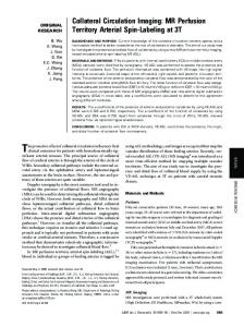 Collateral Circulation Imaging: MR Perfusion Territory ... - CiteSeerX