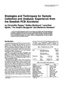 Collection and Analysis: Experience from the Swedish ... - CiteSeerX