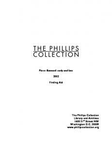 [Collection Title] - The Phillips Collection