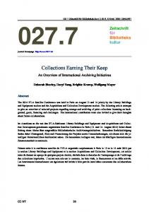 Collections Earning Their Keep - 027.7