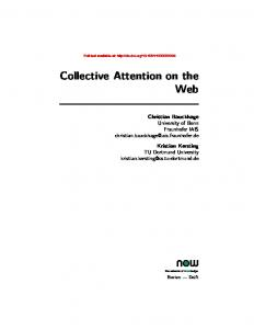 Collective Attention on the Web - Now Publishers
