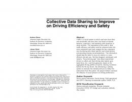 Collective Data Sharing to Improve on Driving ... - ACM Digital Library