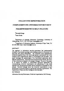 collective improvisation: complementing information security ...
