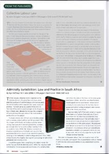 Collective Labour Law Admiralty Jurisdiction: Law and Practice in ...