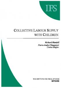 Collective labour supply with children - Semantic Scholar