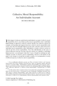 Collective Moral Responsibility: An Individualist Account