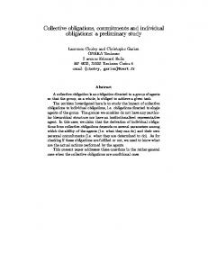 Collective obligations, commitments and individual ... - Semantic Scholar
