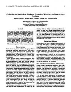 Collective or Scattering: Evolving Schooling Behaviors to Escape from ...