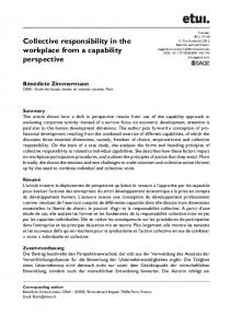 Collective responsibility in the workplace from a ... - SAGE Journals