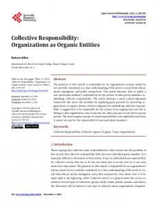 Collective Responsibility - Scientific Research Publishing