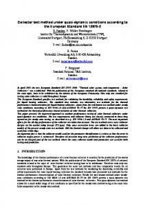 Collector test method under quasi-dynamic conditions according to the ...