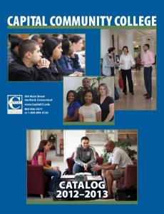 College Catalog - Capital Community College