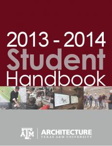 College of Architecture Student Handbook ( 1.3 MB)