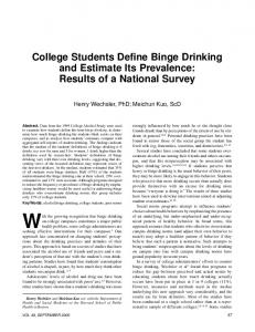College Students Define Binge Drinking and ... - Semantic Scholar