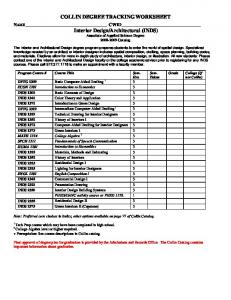 COLLIN DEGREE TRACKING WORKSHEET - Collin College