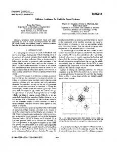 Collision avoidance for multiple agent systems - CalTech Authors