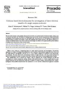 Collision-based Electrochemistry for Investigation of ...