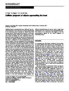 Collision judgment of objects approaching the head | SpringerLink
