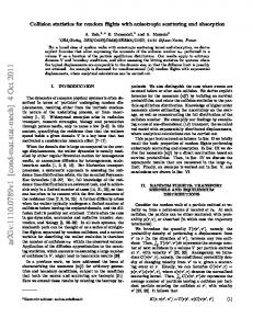 Collision statistics for random flights with anisotropic scattering and ...