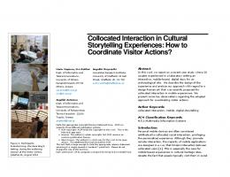 Collocated Interaction in Cultural Storytelling Experiences: How to ...