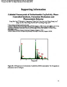 Colloidal Nanocrystals of Orthorhombic Cu2ZnGeS4: Phase ...