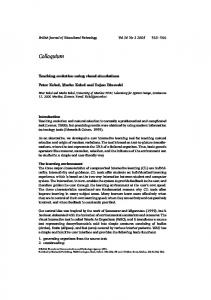 Colloquium - Wiley Online Library