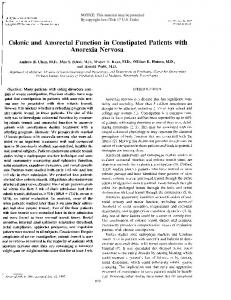 Colonic and Anorectal Function in Constipated ...