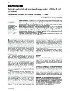 Colonic epithelial cell mediated suppression of CD4 T cell ... - Gut