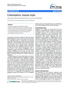Colonization, mouse-style - BMC Biology - BioMed Central