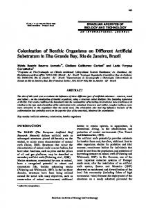 Colonization of Benthic Organisms on Different Artificial ... - Scielo.br