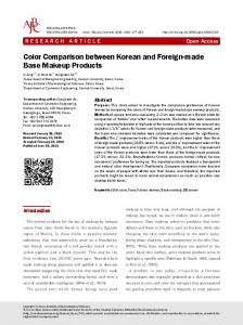 Color Comparison between Korean and Foreign ...