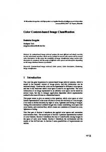 Color Content-based Image Classification