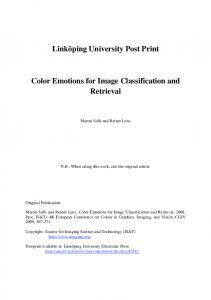 Color Emotions for Image Classification and Retrieval