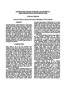 COLOR IMAGE CODING, INDEXING AND ... - Semantic Scholar