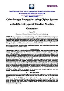 Color Images Encryption using Cipher System with different types of ...