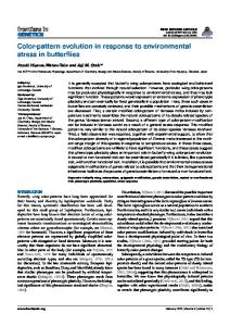 Color-pattern evolution in response to environmental stress in ... - Core