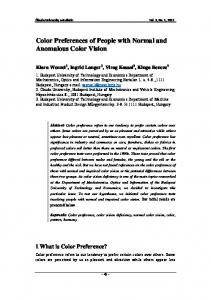 Color Preferences of People with Normal and Anomalous Color Vision