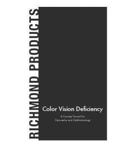 Color Vision Deficiency