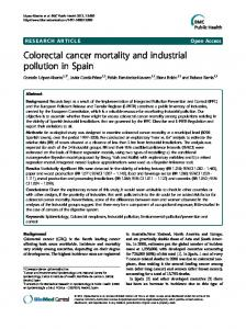 Colorectal cancer mortality and industrial pollution in Spain