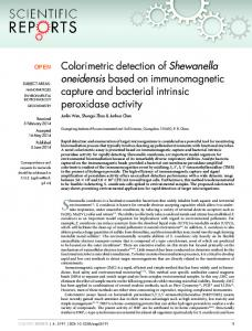 Colorimetric detection of Shewanella oneidensis ... - BioMedSearch