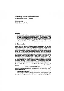 Colorings and Homomorphisms of Minor Closed ...