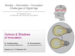 Colours & Shadows of Innovation.