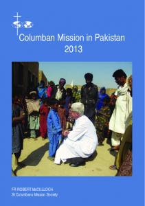Columban Mission in Pakistan 2013 - St Columbans Mission Society