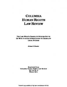 columbia human rights law review - SSRN