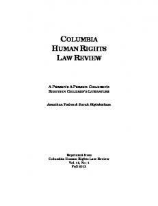 columbia human rights law review