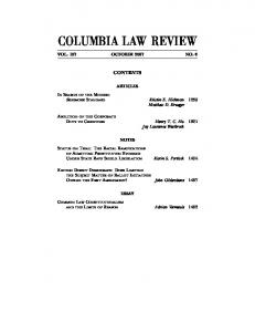 columbia law review - SSRN